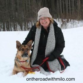 milo in the snow