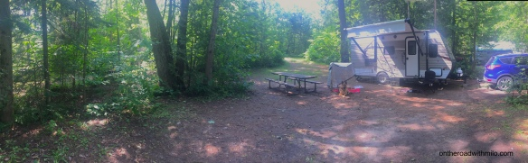Grundy Lake campsite