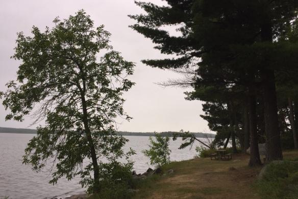 caliper lake tent campsite