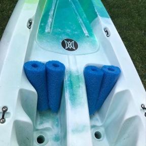 add custom pool noodle dog-deck exenders