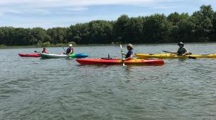 human paddling buddies